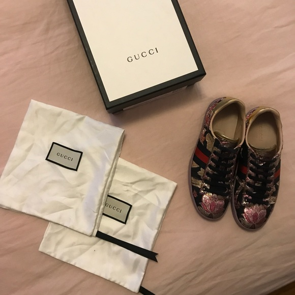 f2eb0ef9790 Gucci Shoes - Gucci New Ace Brocade Lace Up Sneakers